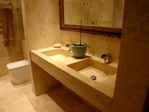 Angora Double HanCarved Vanity Top in little Boltons Chelsea