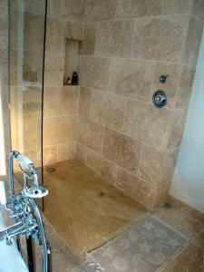 Angora Rustic Walk in Shower
