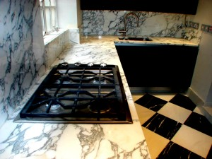 Arabescato Marble Kitchen top - Hob