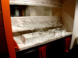 Calacata  Surcface Mounted  Vanity Top & Basins, Putney, London