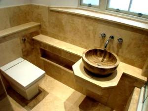 Chelsea _ Embankment Twon house Bathroom Angora Vanity Top Kremna Wash Basin