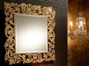 Decorative-Framed Bathroom Mirror