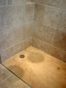 Levant Stone Antiquated Rustic Walk in Shower