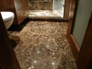 Maroon Empredor Bathroom Floor
