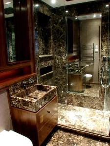 Maroon Empredor Shower Room