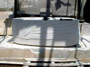 MyRa Limestone Bath  Tube Carving
