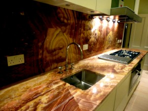 Rosso Onyx Kitchen top