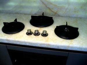 Sebanne Belter Onyx Little Venice Town House Kitchen worktops in Onyx