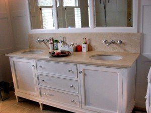 Toothing Town House  Bathroom Caninet and Angora Double Vanity Top