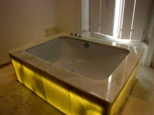 White Onyx Bath Surround and Panels