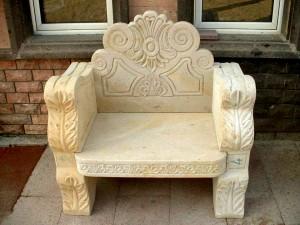 Garden Furniture, Arm chair in Natural Stone, Cappodicia VolcanicTuff