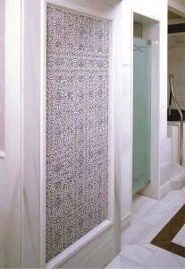Iznik Blue Ceramics  Wall Features in Turkish Bath