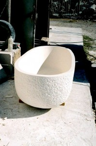 Myra Limestone block .. turned into a Stone Bathtube