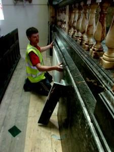 Restoration Works - Verde Guatamela Panel Repairs - West Hampstead Synangogue - London