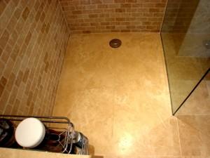 Shower Tra, sloped and Stylish Chrome Shower Waste