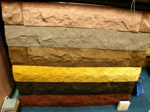 Volcani Tuff  rough finished stone blocks for Exterior Furniture