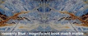Heavenly Blue Book match slabs