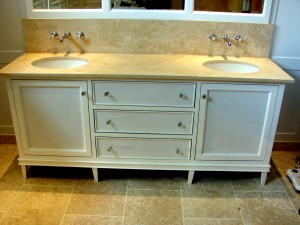 Bespoke double Bathroom Cabinet made to measure