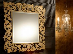 Decorative-Framed Bathroom Mirror