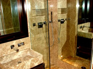 Light Empredor Marble Shower Room