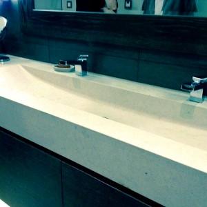 Olympos Limestone Alsancak Integrated Wash Basin