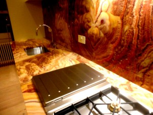 Rosso Onyx Kitchen WorkTop, Bloomsbury Square, London