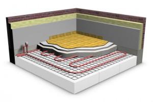 Water-based underfloor heating
