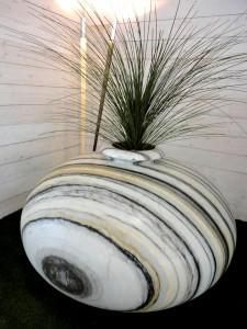 Carved Vase in Marble
